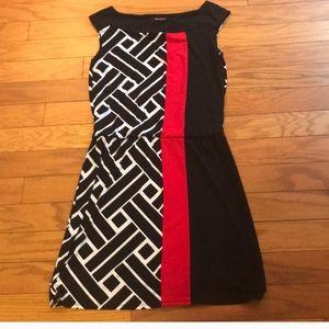 White House Black Market Dress Black/Red/White